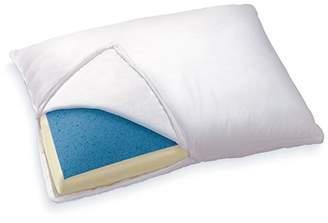 Sleep Innovations Reversible Gel Memory Foam & Memory Foam Pillow with Microfiber Cover