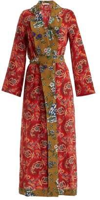 Anjuna - Selene Paisley Print Silk Robe - Womens - Red Multi