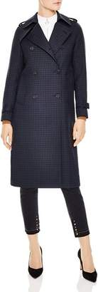 Sandro Rosale Plaid Trench Coat