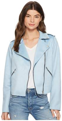 Members Only Suede PU Moto Jacket Women's Coat