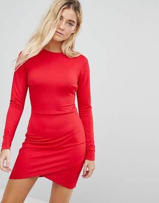 Daisy Street Bodycon Dress With Wrap Skirt