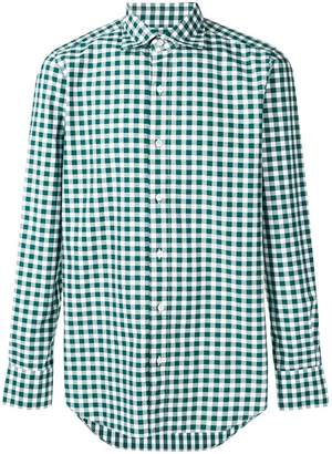 Finamore 1925 Napoli gingham checked shirt