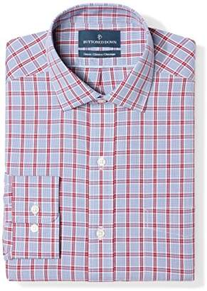 Buttoned Down Men's Classic Fit Spread Collar Pattern
