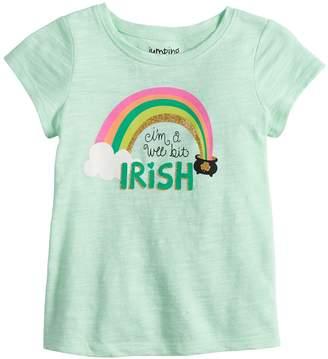 "Baby Girl Jumping Beans ""I'm A Wee Bit Irish"" Glittery Graphic Tee"