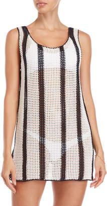 Diane von Furstenberg Open Knit Tank Cover-Up Dress