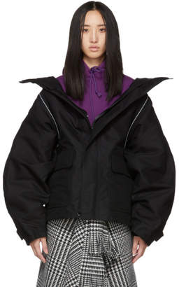 Balenciaga Black Swing Parka Jacket