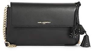 Karl Lagerfeld PARIS Iris Hermine Leather Crossbody Bag