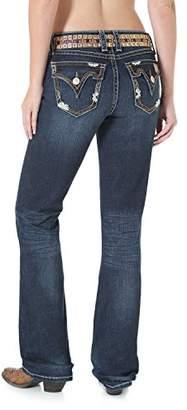 Wrangler Women's Rock 47 Sits Above Hip Embroidered Back Flap Pocket Jean