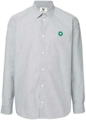 Wood Wood striped logo shirt