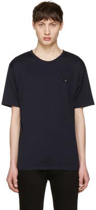 Acne Studios Navy Niagara Face T-Shirt $130 thestylecure.com