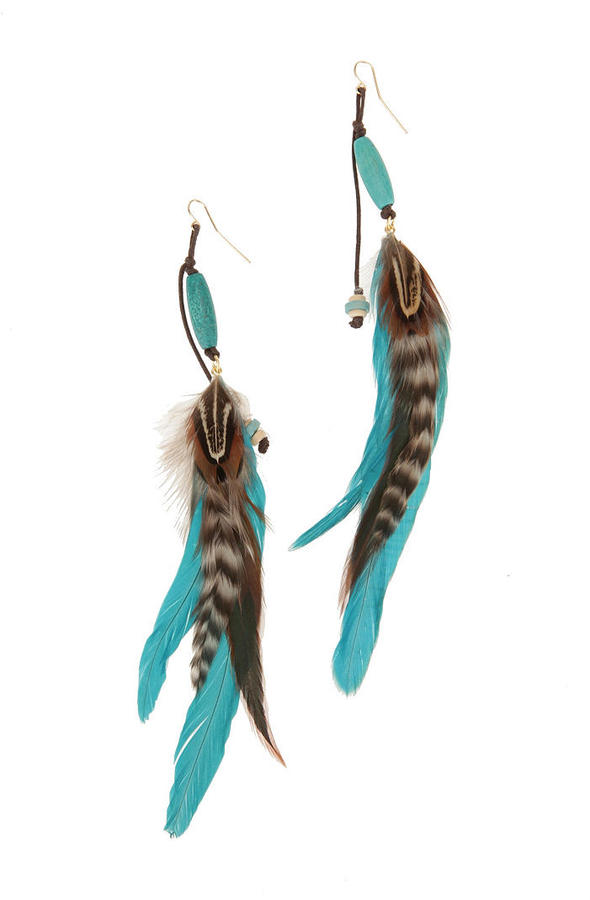 Navajo Feather Earring