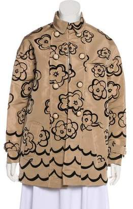 RED Valentino Printed Long Sleeve Jacket