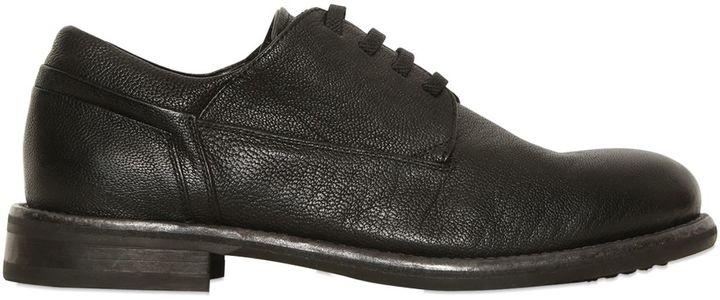 Bruno BordesePebbled Leather Derby Lace-Up Shoes