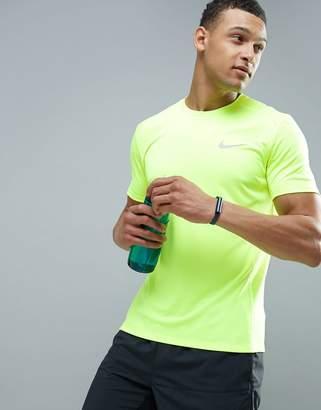 Nike Running Dri-Fit Miler T-Shirt In Volt 833591-702