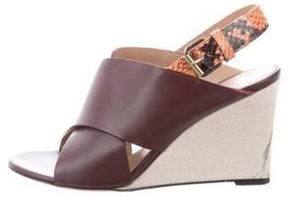 Celine Crossover Wedge Sandals