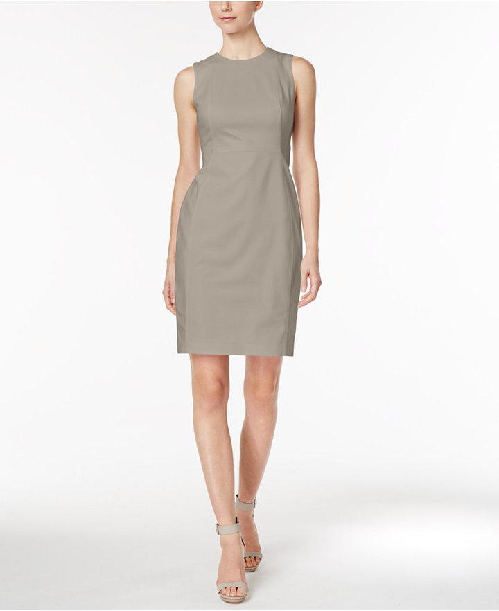 Calvin Klein Stretch Canvas Sheath Dress 2