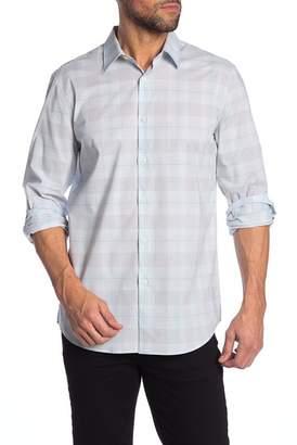 Perry Ellis Long Sleeve Slim Fit Plaid Printed Shirt