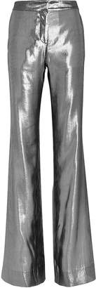 Derek Lam 10 Crosby Silver Lame Trousers