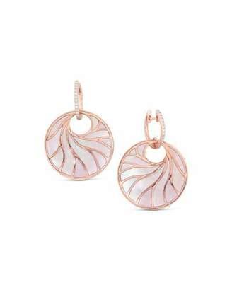 Frederic Sage Medium Pink Mother-of-Pearl & Diamond Venus Earrings