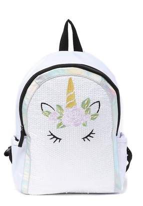 T-Shirt & Jeans Sequined Unicorn Mini Backpack