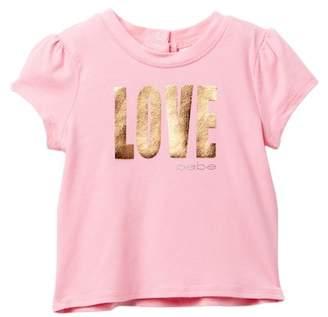 Bebe Love Screen Print Logo Top (Baby Girls)