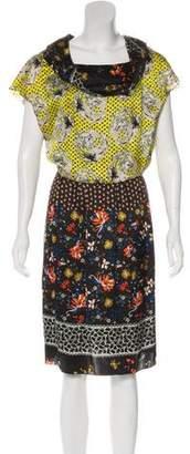 Christian Lacroix Silk Abstract Print Dress