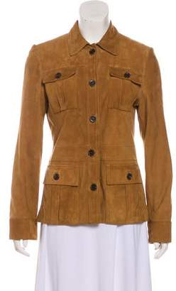 Luciano Barbera Suede Button-Up Jacket