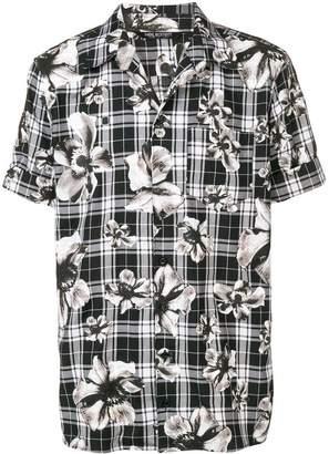 Neil Barrett mixed print shirt