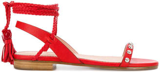 RED Valentino wrapped ankle sandals