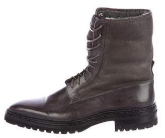Santoni Shearling Ankle Boots