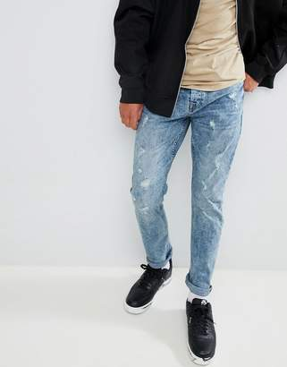 ONLY & SONS Distressed Tapered Fit Jeans