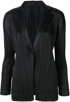 Pleats Please Issey Miyake pleated single-breasted blazer