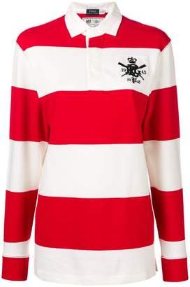 Polo Ralph Lauren striped long-sleeve polo top