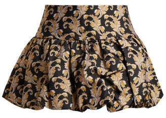 Marques Almeida Marques'almeida - Foliage Jacquard Mini Skirt - Womens - Black Gold