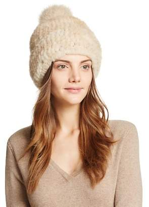 Maximilian Furs Knit Mink Hat - 100% Exclusive