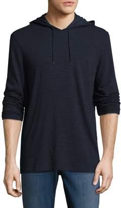 John Varvatos Men's Striped Long Sleeve Pullover Hoodie