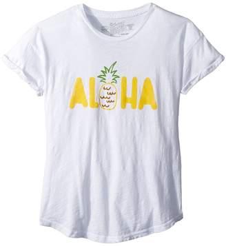 Original Retro Brand The Kids Aloha Rolled Short Sleeve Slub Tee Girl's T Shirt