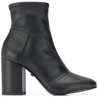 Grey Mer chunky heeled boots