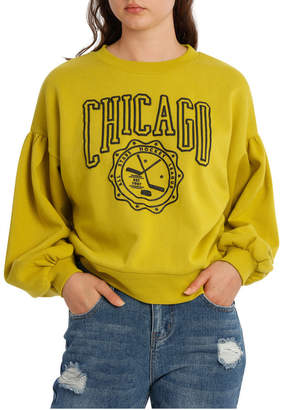 Miss Shop Graphic Chicago Blouson Sleeve MSCW18216