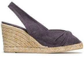 Castaner Twisted Canvas Espadrille Wedge Sandals