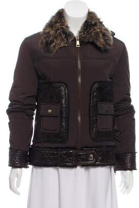 Dolce & Gabbana Casual Fur-Trimmed Jacket w/ Tags