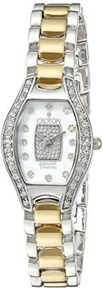 Croton Women's CN207534TTPV Analog Display Quartz Two Tone Watch