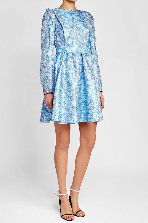 CALVIN KLEIN 205W39NYC Brocade Mini Dress with Silk