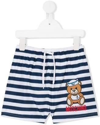 Moschino Kids teddy bear print swim shorts