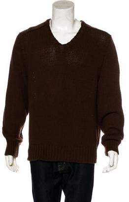 Ralph Lauren Black Label Rib Knit V-Neck Sweater w/ Tags
