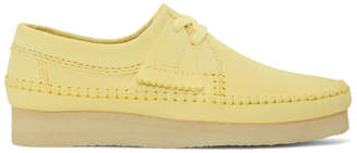 Clarks Yellow Suede Weaver Moccasins