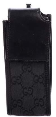 Gucci GG Canvas Phone Holder Black GG Canvas Phone Holder