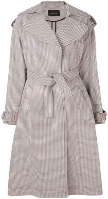 Cédric Charlier checked trench coat