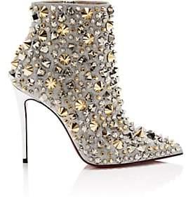 Christian Louboutin Women's So Full Kate Glitter Ankle Boots - Silver, Multi