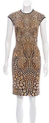 Alexander McQueen Knit Cap Sleeve Dress